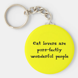 Les amoureux de les chats sont les personnes porte-clé rond