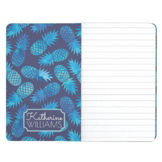 Les ananas bleus de colorant de cravate   ajoutent carnet de poche