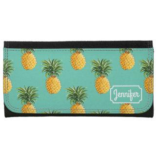 Les ananas tropicaux sur Teal | ajoutent votre nom