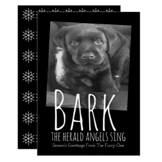 Les anges de The Herald d'écorce de Noël de chien Carton D'invitation 12,7 Cm X 17,78 Cm