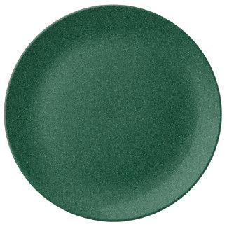 Les Anglais emballant la poussière d'étoile verte Assiettes En Porcelaine