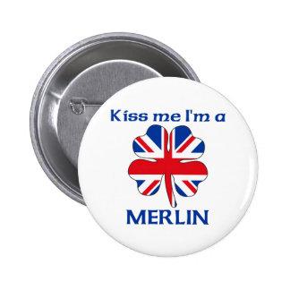 Les Anglais personnalisés m'embrassent que je suis Badge