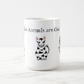 Les animaux de zoo sont frais tasse