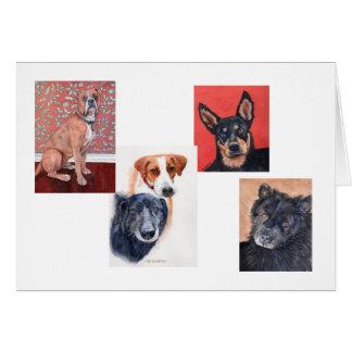 Les animaux familiers cardent par Mary Dunham Cartes De Vœux