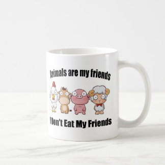 Les animaux sont mes amis tasse à café