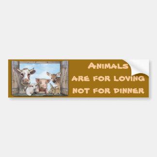 Les animaux sont pour aimer autocollant de voiture
