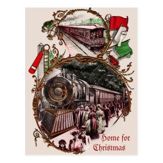 les années 1900 autoguident pour le train de Noël Carte Postale