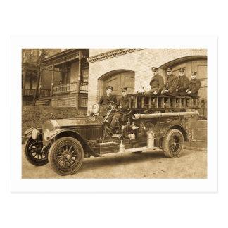 Les années 1900 tôt de cru de crochet et d'échelle carte postale