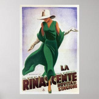 Les années 1900 vintages de Rinascente de La d'art Posters