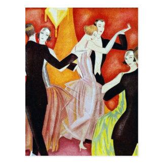 les années 1920 dansant des couples carte postale