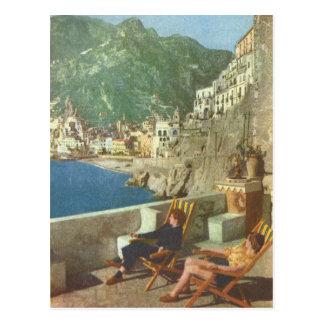 Les années 1930 de côte de l'Italie vintage, Amalf Cartes Postales