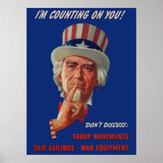 les années 1940 avertissant de l'Oncle Sam Poster