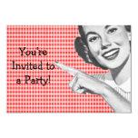 les années 1950 dirigeant la jeune femme V2 Carton D'invitation 8,89 Cm X 12,70 Cm
