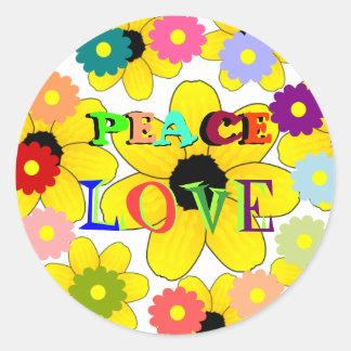 les années 1960 : Autocollant de paix et d'amour