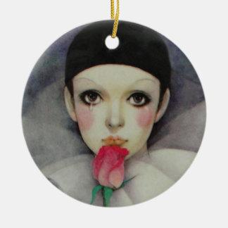 Les années 1980 de Pierrot Ornement Rond En Céramique