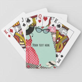 les années '50 des années 1950 habillent les jeu de cartes