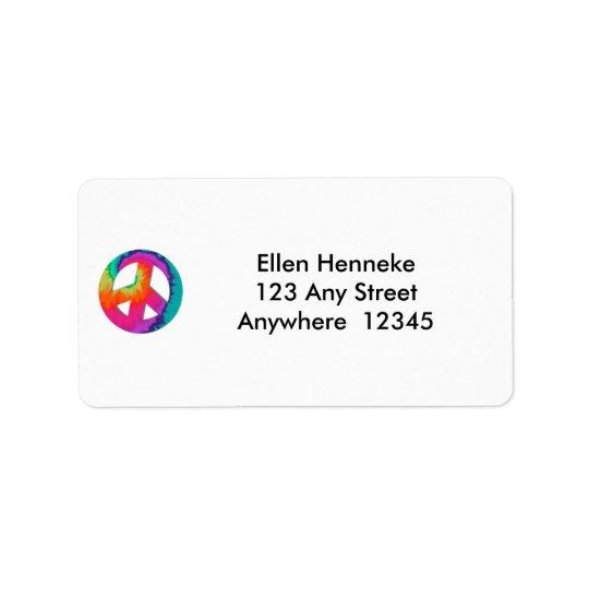 Les années 70 étiquette d'adresse