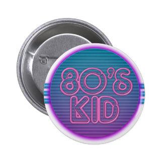 les années 80 badinent le pourpre badge rond 5 cm