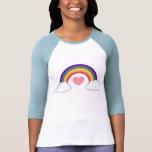 les années 80 coeur et arc-en-ciel - T-shirt