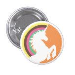les années 80 rétro bouton de licorne et d'arc-en- badge avec épingle