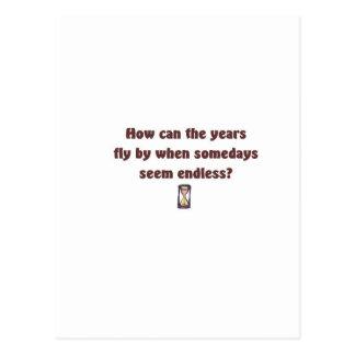 Les années volent par carte postale