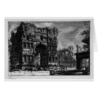 Les antiquités romaines, T. 1, plat XXI. Voûte de… Carte De Vœux
