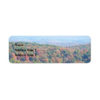 Les Appalaches dans la photographie de nature Étiquettes D'adresse Retour