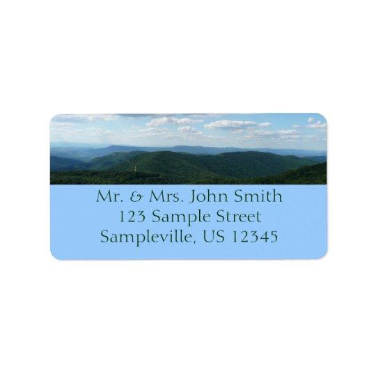 Les Appalaches I Shenandoah Étiquette D'adresse