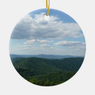 Les Appalaches I Shenandoah Ornement Rond En Céramique
