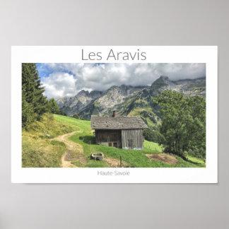 Les Aravis - affiche française de la Haute-Savoie, Poster