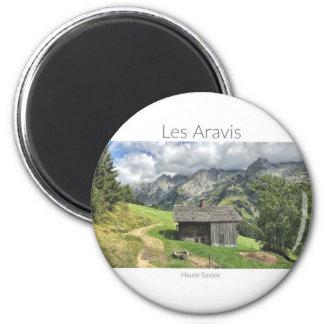 Les Aravis, aimant rond de la Haute-Savoie
