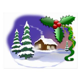 Les arbres de neige d'hiver autoguident le destin  cartes postales