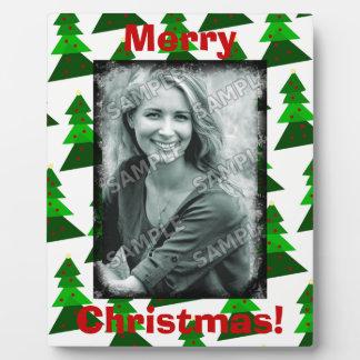 Les arbres mignons de Joyeux Noël ajoutent votre Plaque Photo
