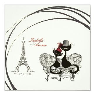 Les Aristochats Noirs - passion française 2 Carton D'invitation 13,33 Cm