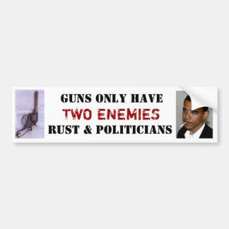 les armes à feu ont seulement deux ennemis, rouill autocollant de voiture