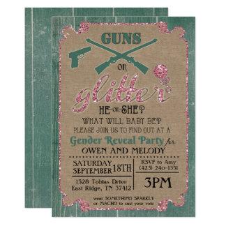 Les armes à feu ou le genre de scintillement carton d'invitation  12,7 cm x 17,78 cm