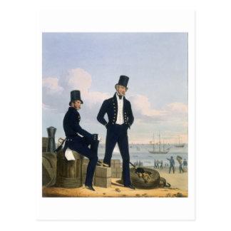 Les artilleurs, maîtres d'équipage et carte postale
