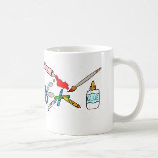 Les arts colorés et ouvre la tasse