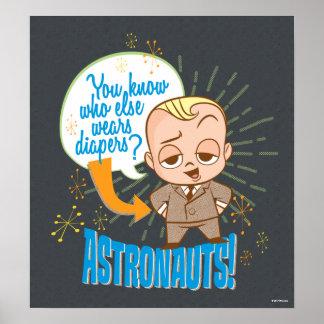 Les astronautes du bébé | de patron posters