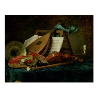 Les attributs de la musique, 1770 (huile sur la carte postale