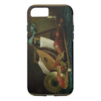 Les attributs de la musique, 1770 (huile sur la coque iPhone 7
