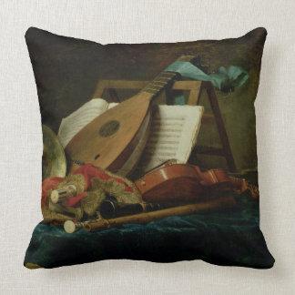 Les attributs de la musique, 1770 (huile sur la to oreiller
