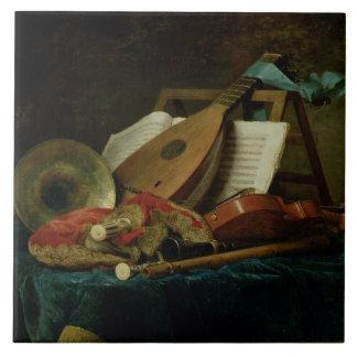 Les attributs de la musique, 1770 (huile sur la to grand carreau carré