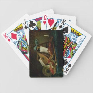 Les attributs de la musique, 1770 (huile sur la to cartes à jouer