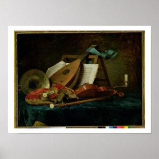Les attributs de la musique, 1770 (huile sur la to poster