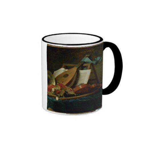 Les attributs de la musique, 1770 (huile sur la to mug