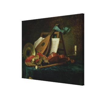 Les attributs de la musique, 1770 (huile sur la to toile tendue