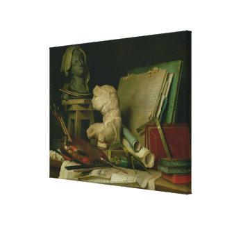 Les attributs des arts, 1769 (huile sur la toile) toile tendue sur châssis