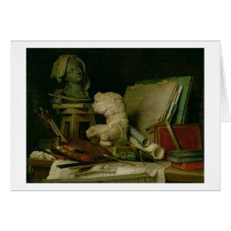 Les attributs des arts, 1769 (huile sur la toile) carte