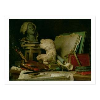Les attributs des arts, 1769 (huile sur la toile) cartes postales